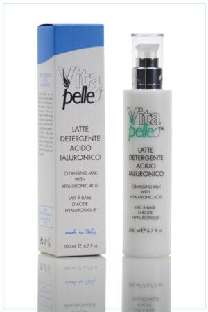Latte detergente viso linea acido ialuronico Vitapelle